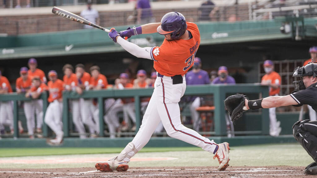 Grice Hits Three Homers in Clemson's 11-3 Win Over No. 4 Cardinals
