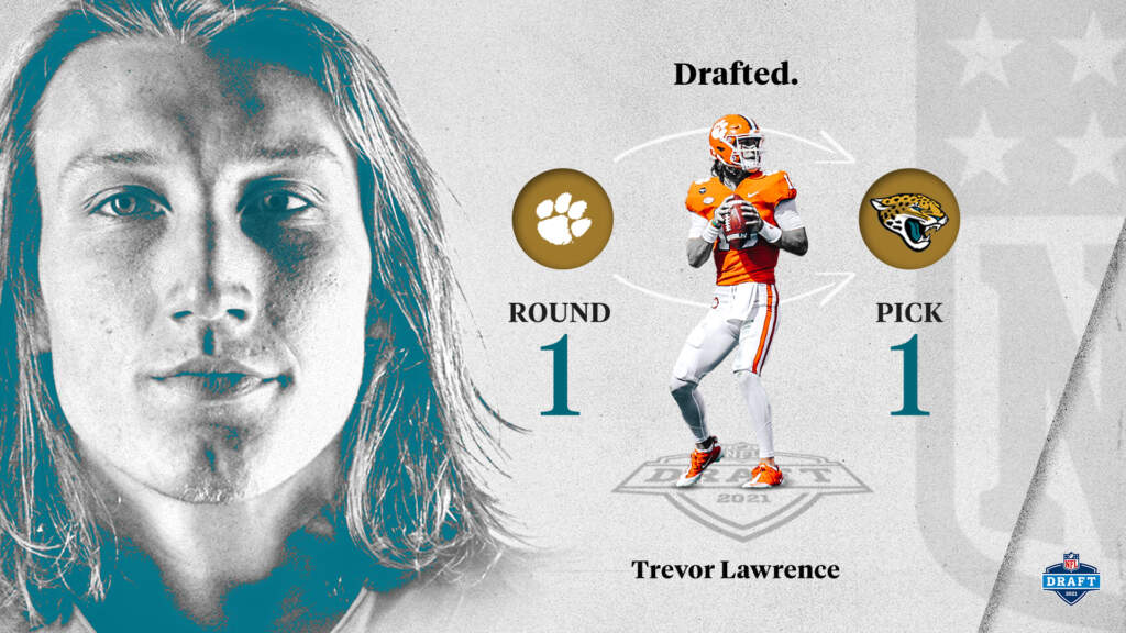 Trevor Lawrence: 2021 NFL Draft #1 Overall Pick