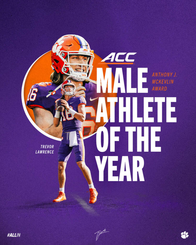 Lawrence Earns McKevlin Award as ACC Male Athlete of the Year