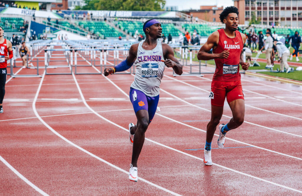 Clemson's 4x100m Relay, Giano Roberts Advance to NCAA Finals on Wednesday
