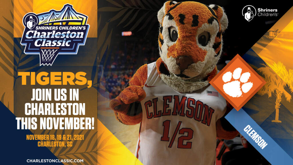 Clemson to Face Temple at Shriners Children's Charleston Classic