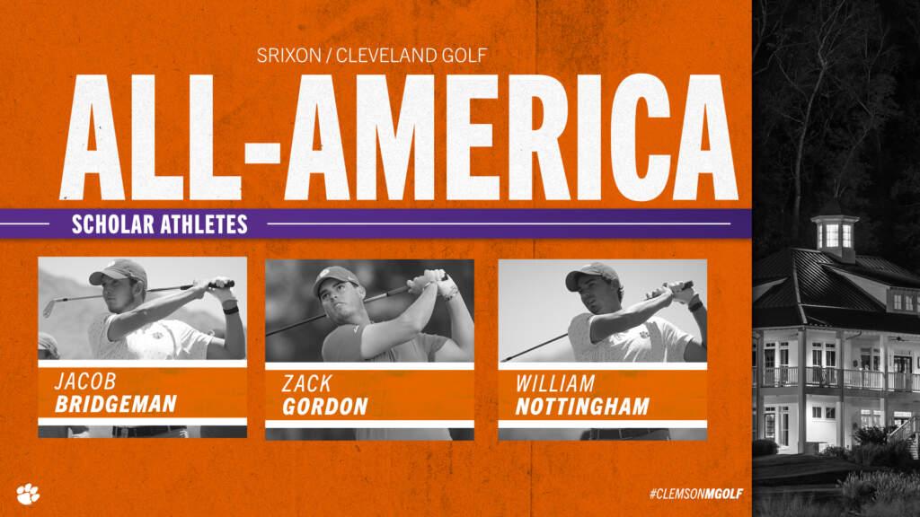 Bridgeman, Gordon and Nottingham Named All-America Scholars