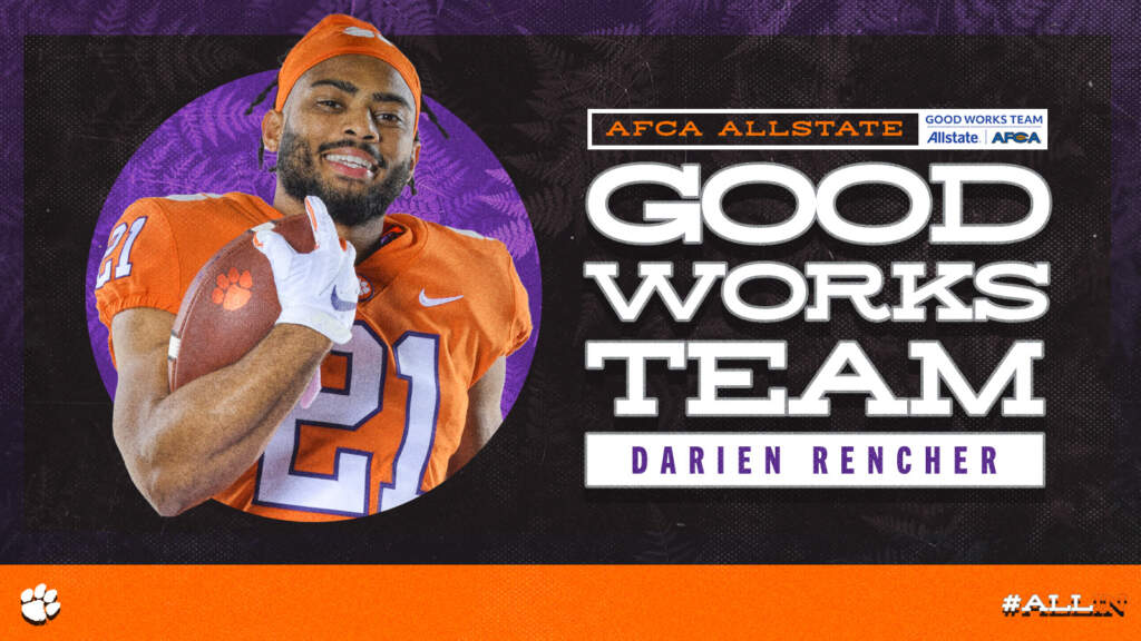 Rencher Named to AFCA Good Works Team