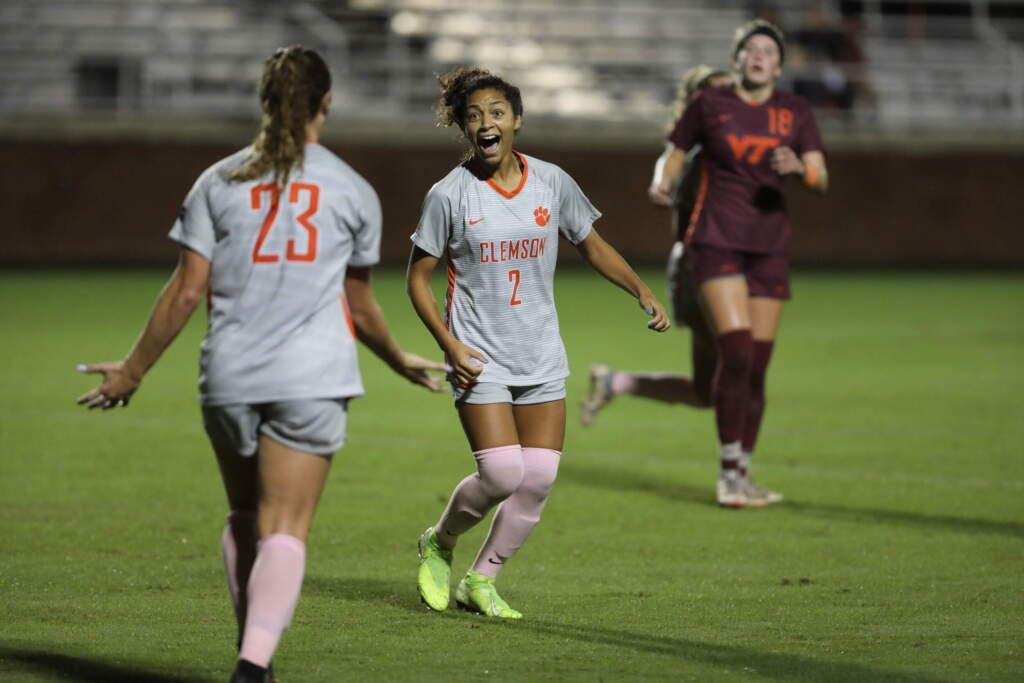 Morris Sisters Shine as Tigers Knock Off No. 17 Virginia Tech, 1-0